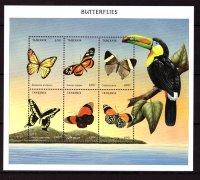 Танзания, 1999. [tan9946] Бабочки (м\л)