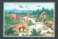 Северная Корея, 2000. [bl461] Динозавры (2 м\л)