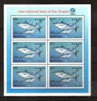 Мальдивы, 1999. [mld9906m] Морская фауна (м\л)