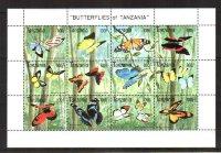 Танзания. [tan_bt02m] Бабочки (м\л)
