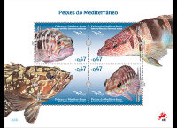 Португалия, 2016. Морская фауна Средиземноморья (серия+м\л)