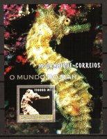Мозамбик, 2002. [moz02210] Морская фауна (блок)